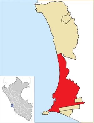 Callao District - Image: Location of the district Callao in Callao (2)