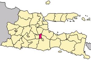 Kota Batu, Indonesia - Image: Locator kota batu