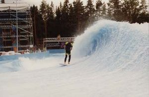 Wave Loch - Tom Lochtefeld test flowing the first FlowBarrel at Bø Sommarland, Norway