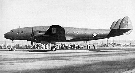 The first Lockheed Constellation on January 9, 1943. - Lockheed Constellation
