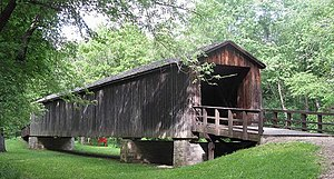 National Register of Historic Places listings in Linn County, Missouri - Image: Locust Creek Covered Bridge 1