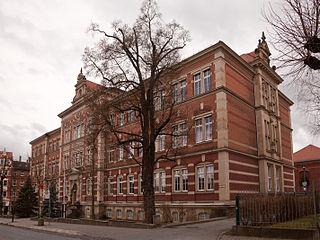 Eine Schule (lateinisch schola