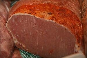 Adobo - Lomo en adobo—pork loin marinated in adobo.