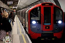 A 2009 stock Victoria line train at Euston station