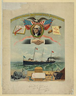 International Longshoremen's Association - ILA banner c. 1901