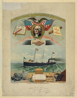 International Longshoremen's Association - ILA banner c. 1901