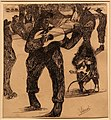 Lorenzo viani, suonatore ambulante con cane, 1906-07.jpg