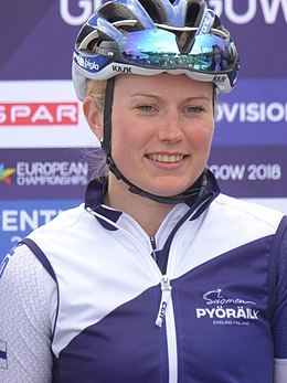 Lotta Lepistö - 2018 UEC European Road Cycling Championships (Women's road race).jpg