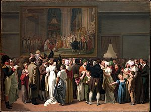 Paris under Napoleon - Parisians in the Louvre, by Léopold Boilly (1810)