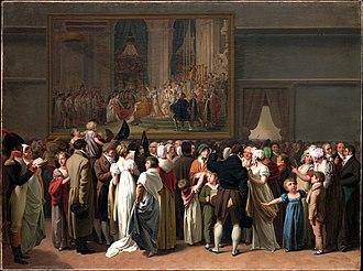 Paris under Napoleon - Parisians in the Louvre, by Léopold Boilly (1810)