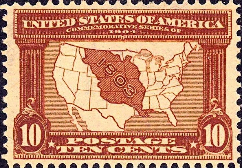 Louisiana Purchase7 1903 Issue-10c-crop