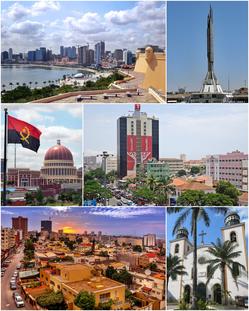 Luanda City in Angola
