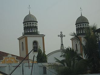 Religion in Angola - A Roman Catholic church in Luanda, Angola
