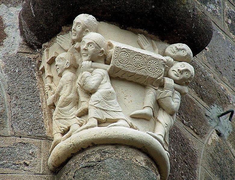 Muerte y Románico Fúnebre  - Página 8 781px-Lubersac_-_Eglise_Saint-Etienne_-_Chevet_-_Transfert_des_reliques_de_saint_Etienne