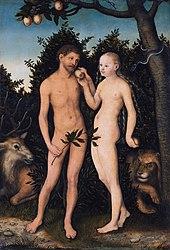 Lucas Cranach the Elder: Adam and Eve in paradise