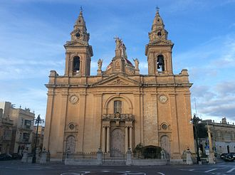 St Andrew's Parish Church, Luqa - Image: Luqa Church Malta