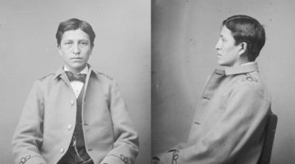 Luther Standing Bear at Carlisle, two photos.png