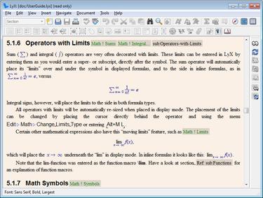 עורך מתמטי Lyx