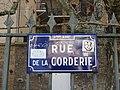 Lyon 9e - Rue de la Corderie - Plaque (fév 2019).jpg