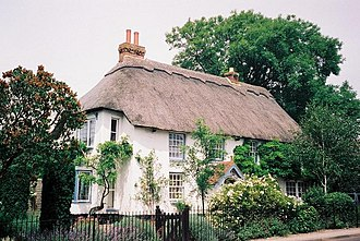 Lytchett Matravers - Prospect House, an early 19th-century cottage on Wareham Road