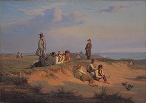 Men of Skagen on a Summer Evening in Fair Weather - Martinus Rørbye: Men of Skagen on a Summer Evening in Fair Weather