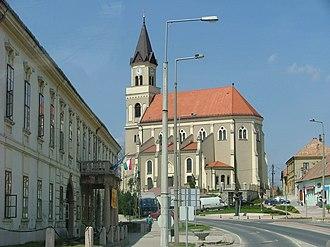 Mór - The town centre
