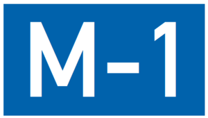 European route E119 - Image: M1 AZ