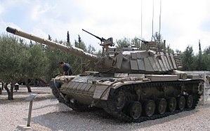 Reactive armour - M60A1 Patton tank with Israeli Blazer ERA.