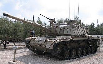 Reactive armour - M60A1 Patton tank with Israeli Blazer ERA.