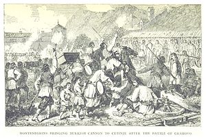 Cetinje - Mackenzie (1877) after the battle of Grahovo