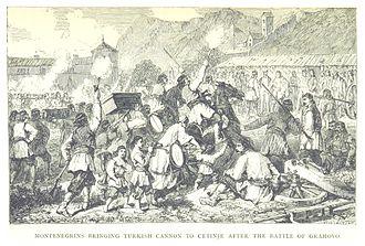 Cetinje - Mackenzie (1877) after the battle of Grahovo