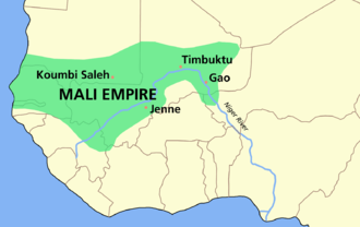 Mali Empire - Extent of the Mali Empire (c. 1350)