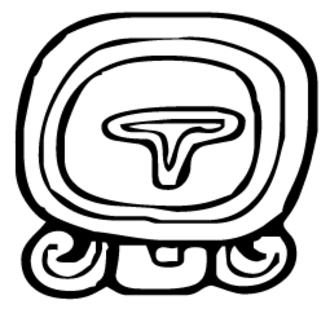 Maya calendar - Image: MAYA g log cal D02 Ik