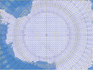 Military Grid Reference System - Figure 3. The MGRS grid around the South Pole.