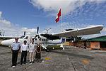 MINISTRO VALAKIVI ENTREGÓ MODERNA FLOTA DE 12 AERONAVES CANADIENSES TWIN OTTER DHC-6 SERIE 400 A LA FUERZA AÉREA DEL PERÚ (19565045016).jpg
