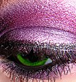 Macro green eye with purple m.a.c. and ben nye eyeshadow.jpg