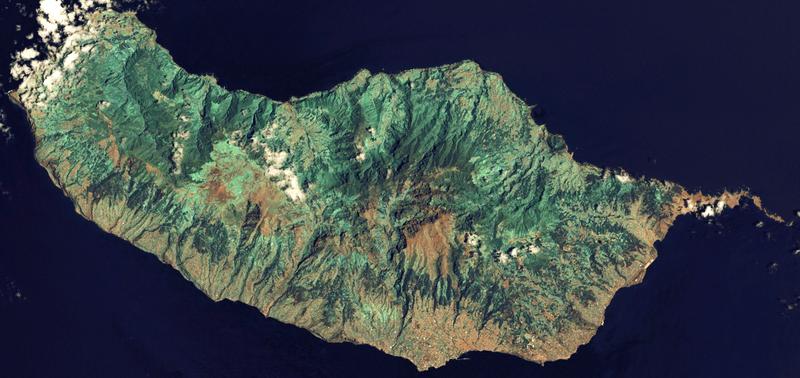 Satellitenaufnahme von Madeira