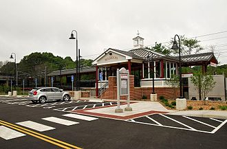Madison station (Connecticut) - The rebuilt Madison station at its opening on July 28, 2008