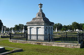 Magnolia Cemetery (Mobile, Alabama) - The Greek Revival-style Wilson Mausoleum.
