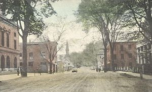 Windsor Village Historic District (Windsor, Vermont) - Main Street on a 1910 postcard