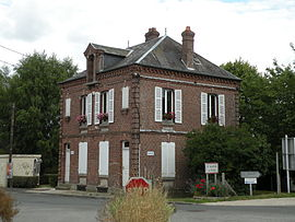 The town hall in Saint-Sulpice