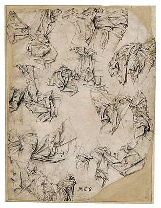 Master of the Drapery Studies - A drapery study (Cabinet des estampes et des dessins, Strasbourg)