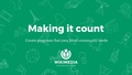Making it count + Creative design (Programs Workshop).pdf