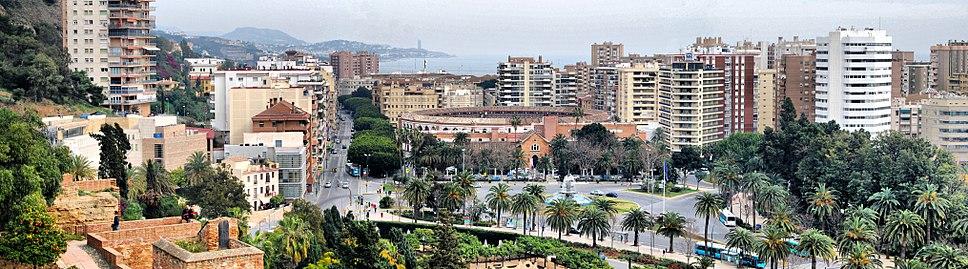 Málaga in winter.
