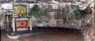 Mamertine Prison - The Mamertine Prison in Rome, with an altar commemorating the legendary tradition that Saints Peter and Paul were imprisoned there