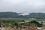Mandarin Airlines Embraer ERJ 190 B-16825 on Final Approach at Taipei Songshan Airport 20150321a.jpg