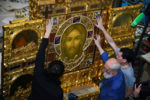 Mandylion icon in Sretensky Monastery (Moscow) 07.png