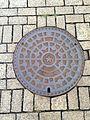 Manhole cover of Kitakyushu, Fukuoka 2.jpg