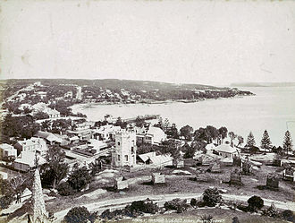 Manly, New South Wales - The harbour side of Manly in the late 1880s