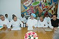 Manmohan Singh talking to Members of Parliament of Andhra Pradesh and representatives of a Taskforce constituted by Government of Andhra Pradesh who submitted a memorandum demanding classical status for Telugu language.jpg